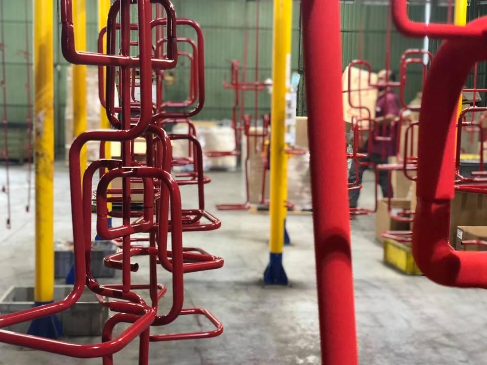 linea sgtt verniciatura polvere CDA Tecnologie Industriali San Giovanni Teatino